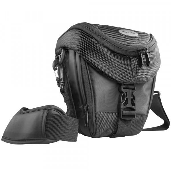 Mantona Colt Kameratasche (Universaltasche inkl. Schnellzugriff, Staubschutz, Tragegurt und Zubehörfach, geeignet für DSLR und Systemkameras) schwarz-38