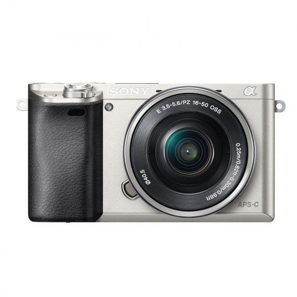 "Sony Alpha 6000 Systemkamera (24 Megapixel, 7,6 cm (3"") LCD-Display, Exmor APS-C Sensor, Full-HD, High Speed Hybrid AF) inkl. SEL-P1650 Objektiv silber-322"