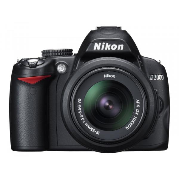 Nikon D3000 SLR-Digitalkamera (10 Megapixel) Kit inkl. 18-55mm 1:3,5-5,6G VR Objektiv (bildstab.)-37
