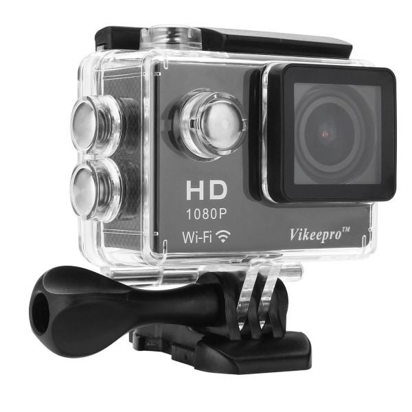 Vikeepro Action Cam 2,0 Zoll Full HD 1080p 30fps action kamera mit 170 Grad Ultra-Weitwinkel Objektiv, WiFi Handgelenk 2.4G, 2 Batterien und Free Zubehör Kit (Schwarz)-37