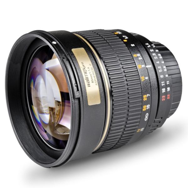 Walimex Pro 85mm 1:1,4 CSC-Objektiv (Filtergewinde 72mm, IF, AS und ED-Linsen) für Nikon 1 Objektivbajonett schwarz-33