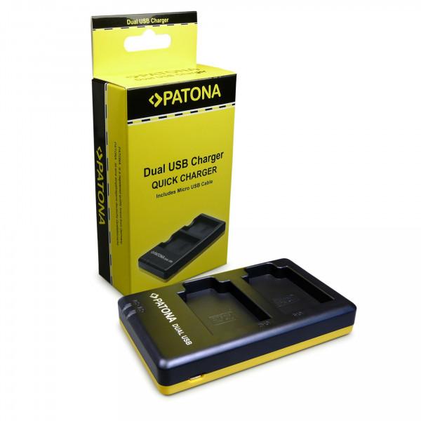 PATONA Dual Schnell-Ladegerät für Nikon EN-EL12, ENEL12 inkl. Micro-USB Kabel-33