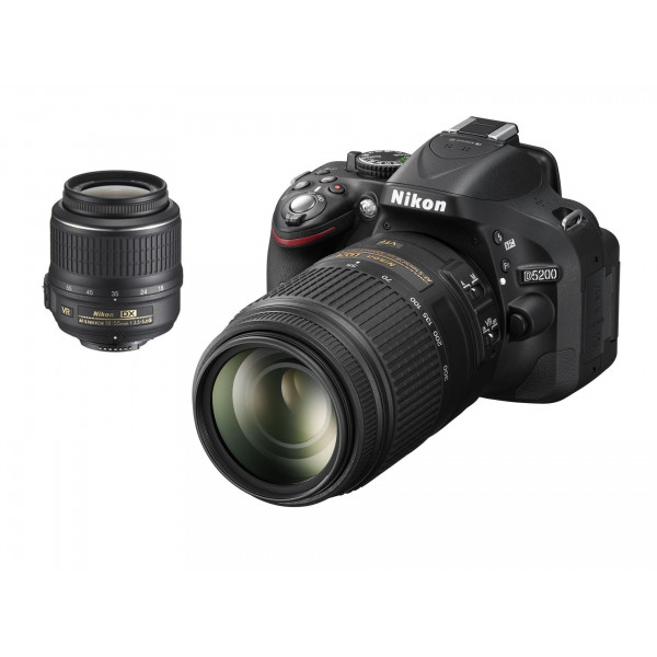 Nikon D5200 SLR-Digitalkamera (24,1 Megapixel, 7,6 cm (3 Zoll) TFT-Display, Full HD, HDMI) Double-Zoom-Kit inkl. AF-S DX 18-55 mm VR und 55-300 mm Objektiv schwarz-34