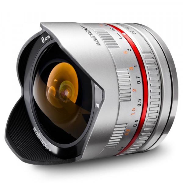 Walimex Pro 8mm 1:2,8 CSC Fish-Eye-Objektiv (feste Gegenlichtblende, UMC Linsen, große Tiefenschärfe) für Sony E Objektivbajonett silber-37