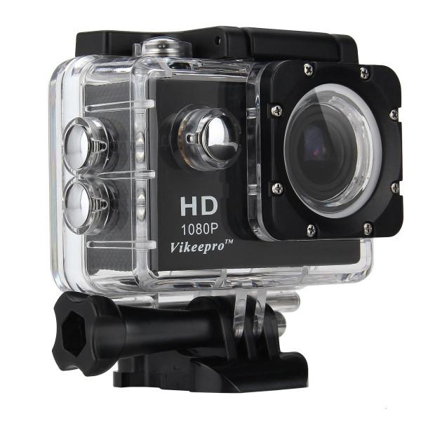 Vikeepro Action Cam 1.5 Zoll Full HD 1080p 30fps action kamera mit 170 Grad Ultra-Weitwinkel Objektiv, WiFi Handgelenk 2.4G, 2 Batterien und Free Zubehör Kit (Schwarz)-37