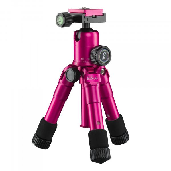 Mantona kaleido mini Foto-/Tisch und Travelstativ (inkl. Kugelkopf mit Schnellwechselplatte und Transporttasche) lady pink metallic-38