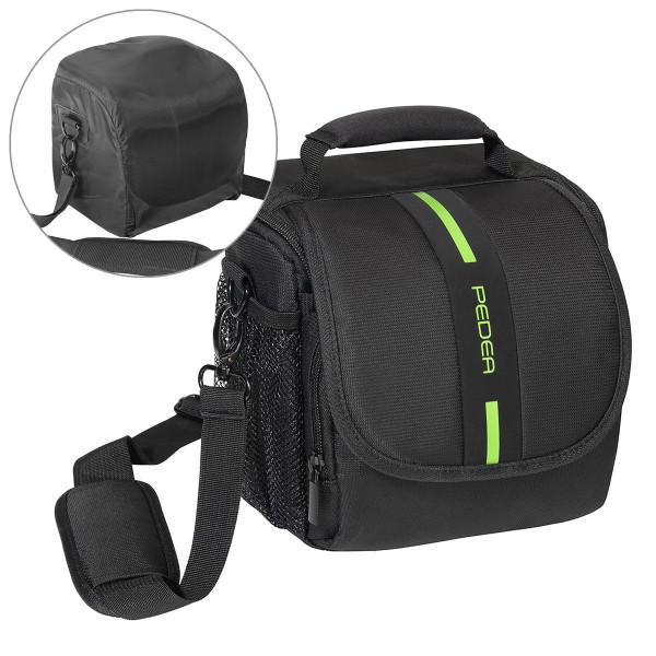 Pedea Essex SLR-Kameratasche mit Regenschutz/Tragegurt und Zubehörfächer, Gr. M-37