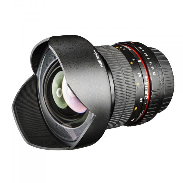Walimex Pro 14 mm 1:2,8 CSC-Weitwinkelobjektiv für Samsung NX Objektivbajonett schwarz-36