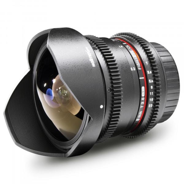 Walimex Pro 8 mm 1:3,8 VDSLR Fish-Eye II Objektiv Foto und Video (abnehmbare Gegenlichtblende, IF, Zahnkranz, stufenlose Blende und Fokus) für Canon EF-S Objektivbajonett schwarz-39