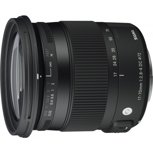 Sigma 17-70 mm f2,8-4,0 Objektiv (DC, Makro, OS, HSM, 72 mm Filtergewinde) für Sigma Objektivbajonett-37