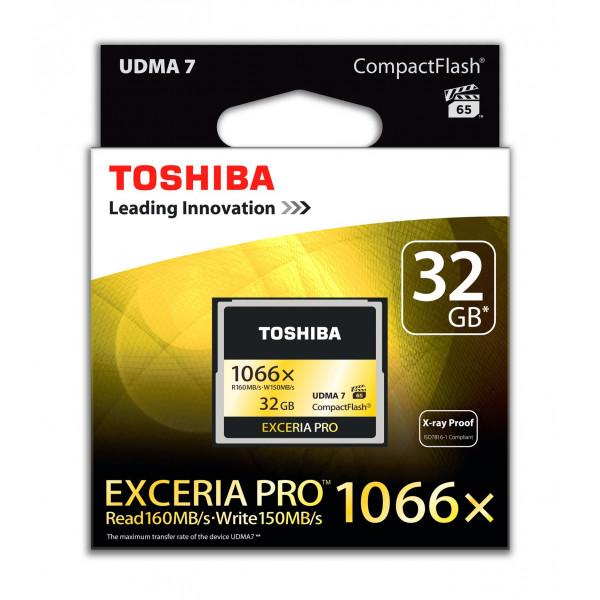 Toshiba Exceria Pro CompactFlash 32GB (bis zu 160MB/s lesen) Speicherkarte schwarz-32