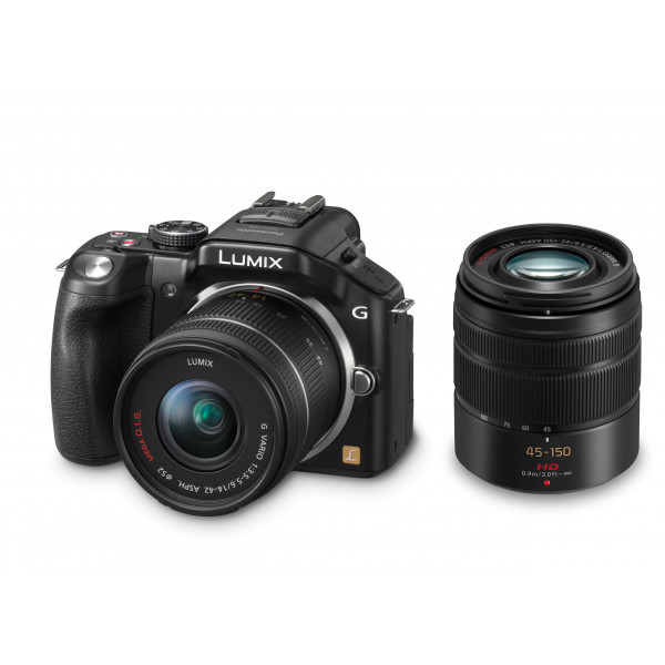 Panasonic Lumix DMC-G5WEG-K Systemkamera (16 Megapixel, 7,6 cm (3 Zoll) Touchscreen, Full-HD Video, bildstabilisiert) schwarz inkl. Lumix G Vario 14-42mm OIS und 45-150mm OIS Objektiven-36