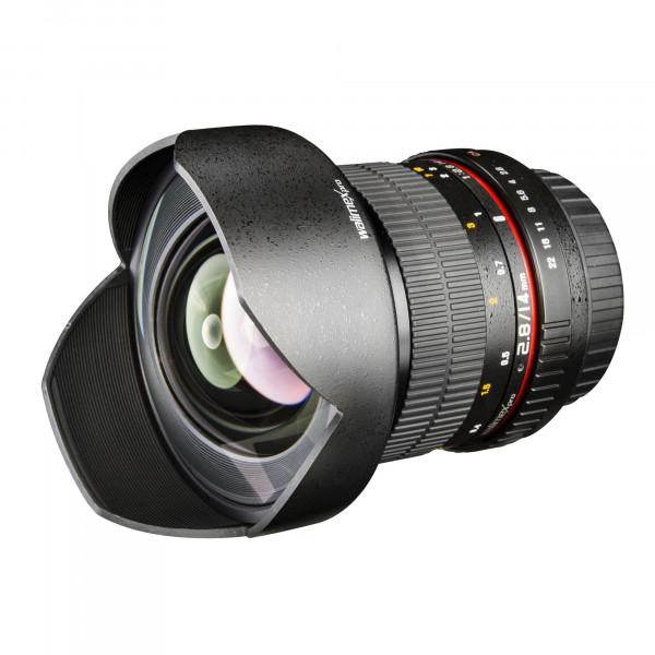 Walimex Pro 14 mm 1:2,8 DSLR-Weitwinkelobjektiv AE für Nikon F Objektivbajonett schwarz-37