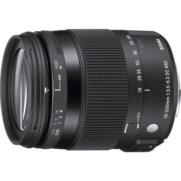 Sigma 18-200mm F3,5-6,3 DC Makro OS HSM Contemporary Objektiv (Filtergewinde 62mm) für Canon Objektivbajonett-37