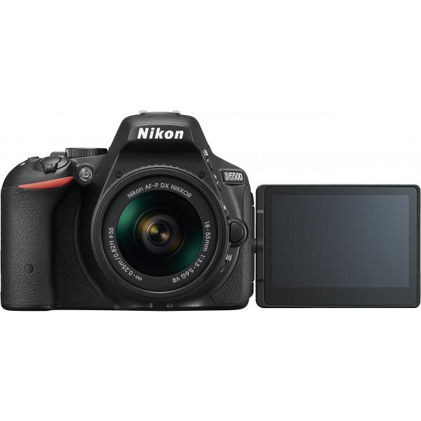 Nikon D5500 SLR-Digitalkamera Kit DX AF-P 18-55 VR schwarz-34