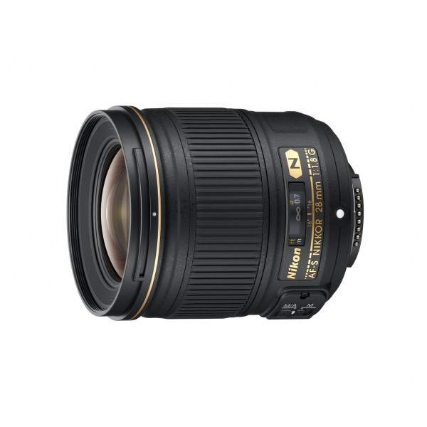 Nikon AF-S Nikkor 28mm 1:1,8G Objektiv inkl. HB-64 und CL-0915-35