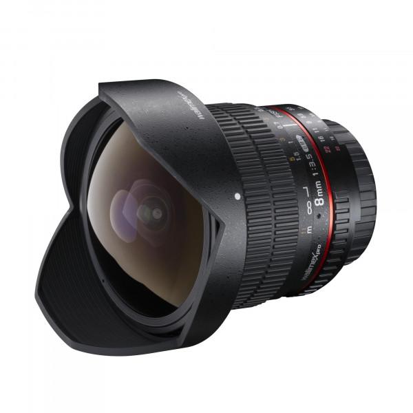 Walimex Pro 8 mm 1:3,5 DSLR Fish-Eye II Objektiv für Canon EF-S Objektivbajonett schwarz (mit abnehmbarer Gegenlichtblende)-37
