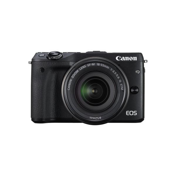 Canon EOS M3 Systemkamera (24 Megapixel APS-C CMOS-Sensor, WiFi, NFC, Full-HD) Kit inkl. EF-M 18-55 mm IS STM Objektiv schwarz-310