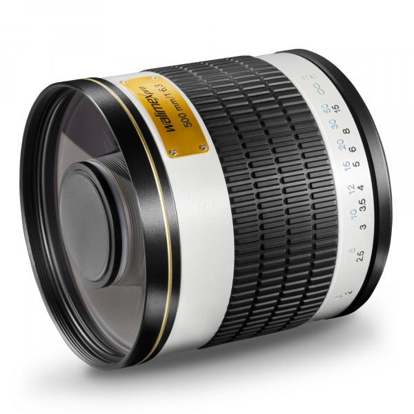 Walimex Pro 500mm 1:6,3 DSLR Spiegel-Teleobjektiv (Filtergewinde 34mm) für Canon FD Objektivbajonett weiß-35