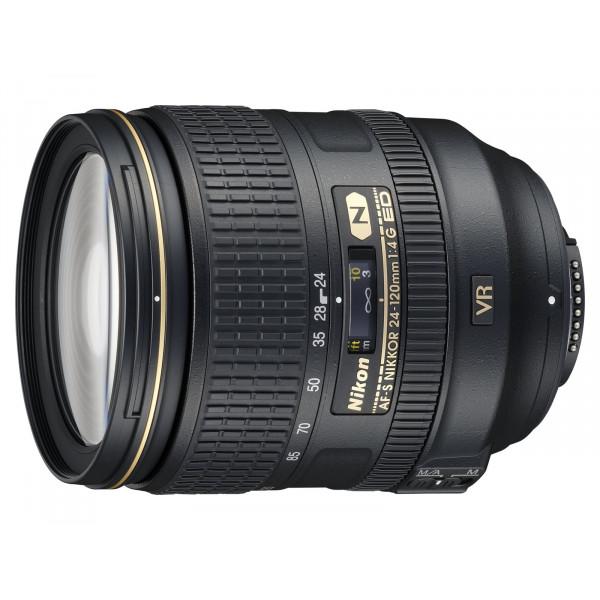 Nikon AF-S 24-120mm 1:4G ED VR Objektiv (77 mm Filtergewinde) inkl. HB-53-35
