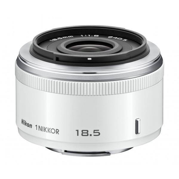 Nikon 1 Nikkor 18,5mm 1:1,8 Objektiv weiß-32