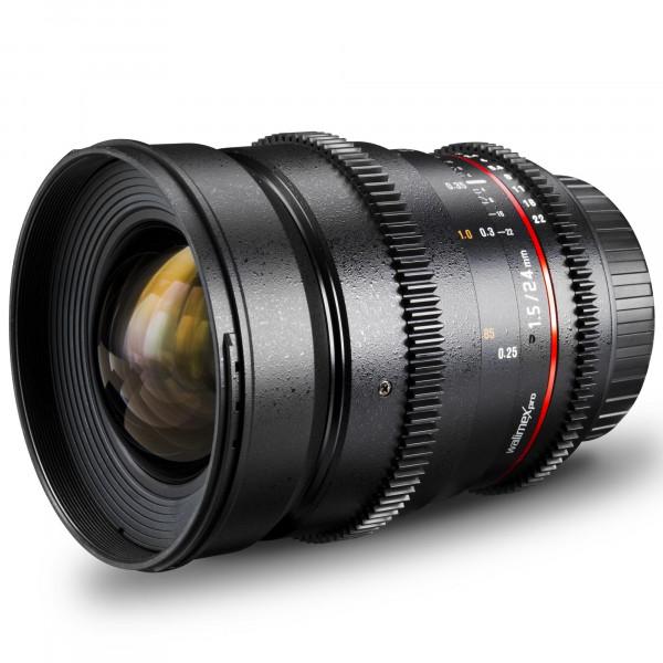 Walimex Pro 24 mm 1:1,5 VCSC Foto/Videoobjektiv für Micro Four Thirds Objektivbajonett (Filtergewinde 77mm, Gegenlichtblende, Zahnkranz, stufenlose Blende/Fokus) schwarz-36