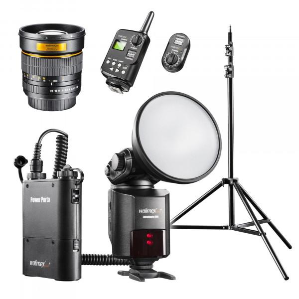 Walimex Pro Light Shooter 360 Porträt Set (85 mm/1:1,4 Portraitobjektiv, Funkauslöser, Lampenstativ) für Nikon-35
