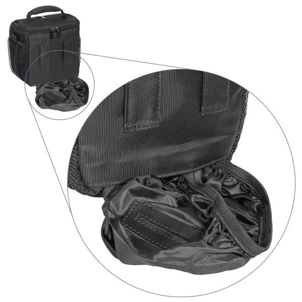 PEDEA Essex SLR-Kameratasche mit Regenschutz und Zubehörfächer (Größe: M) schwarz/blau-31