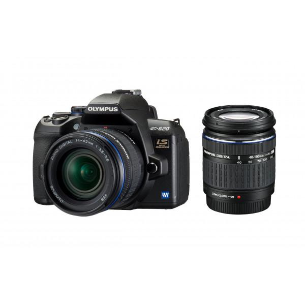 Olympus E-620 SLR-Digitalkamera (12 Megapixel, Bildstabilisator, Live View, Art Filter) Kit inkl. Batteriegriff, 14-42mm and 40-150mm Objektive-35