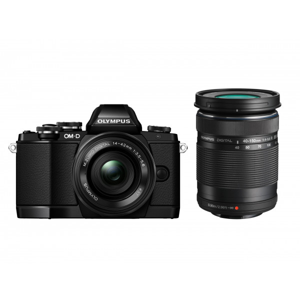 Olympus OM-D E-M10 kompakte Systemkamera inkl. 14-42 mm Pancake Objektiv und 40-150 mm Objektiv (16,1 Megapixel, 7,6 cm (3 Zoll) Display, WLAN, HDMI, USB 2.0) schwarz-31
