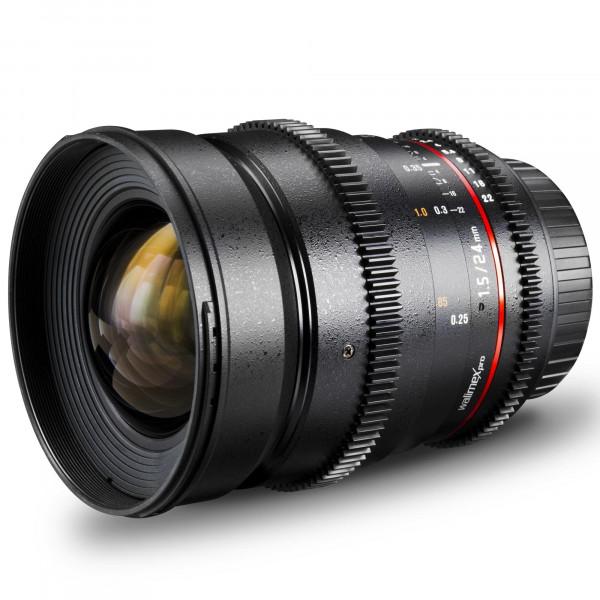 Walimex Pro 24 mm 1:1,5 VDSLR Foto und Videoobjektiv (inkl. Filtergewinde 77mm, Gegenlichtblende, Zahnkranz, stufenlose Blende und Fokus) für Olympus Four Thirds Objektivbajonett schwarz-36