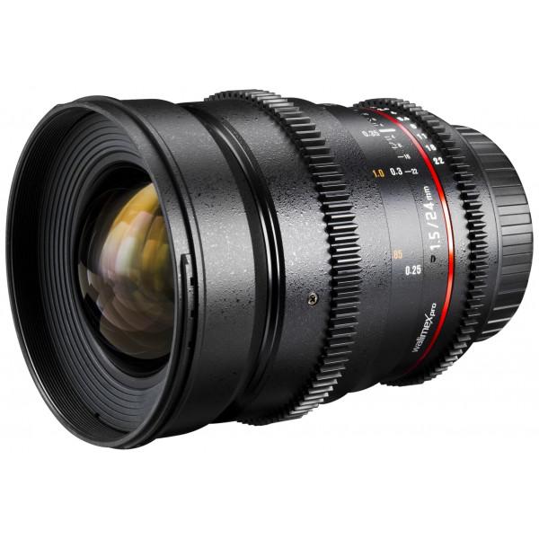 Walimex Pro 24 mm 1:1,5 VCSC Foto/Videoobjektiv für Canon M Objektivbajonett (Filtergewinde 77mm, Gegenlichtblende, Zahnkranz, stufenlose Blende/Fokus) schwarz-36