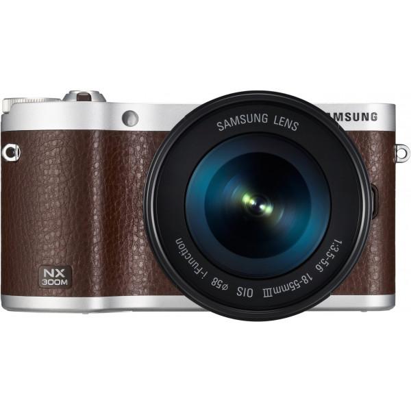 Samsung NX300M kompakte Systemkamera (20,3 Megapixel, 2-fach opt. Zoom, 8,4 cm (3,3 Zoll) Touchscreen) inkl. 18-55 mm OIS i-Function Objektiv braun-311