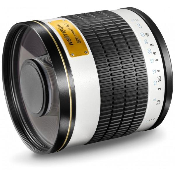 Walimex Pro 500mm 1:6,3 CSC Spiegel Teleobjektiv (Filtergewinde 34mm) für Samsung NX Objektivbajonett weiß-35