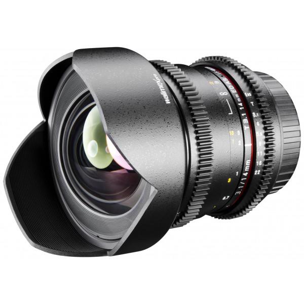Walimex Pro 14mm 1:3,1 VDSLR Foto und Videoobjektiv (inkl. fester Gegenlichtblende, IF, Zahnkranz, stufenlose Blende und Fokus, Weitwinkelobjektiv) für Canon EF Objektivbajonett schwarz-34