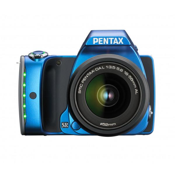 Pentax K-S1 SLR-Digitalkamera (20 Megapixel, 7,6 cm (3 Zoll) TFT Farb-LCD-Display, ultrakompaktes Gehäuse, Anti-Moiré-Funktion, Full-HD-Video, Wi-Fi, HDMI) Kit inkl. DAL 18-55 mm Objektiv blau-310