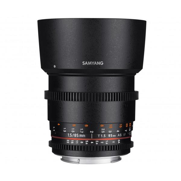 SAMYANG 13085T1.5C T1.5 VDSLR UMC II Objektiv für Anschluss Canon (85mm)-37
