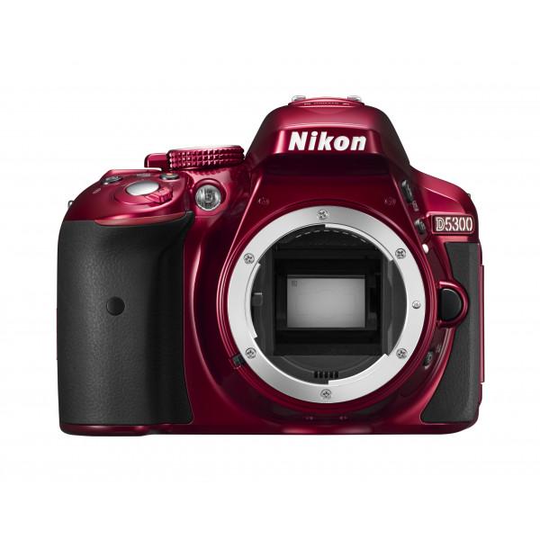 Nikon D5300 SLR-Digitalkamera (24,2 Megapixel, 8,1 cm (3,2 Zoll) LCD-Display, Full HD, HDMI, WiFi, GPS, AF-System mit 39 Messfeldern) nur Gehäuse rot-33