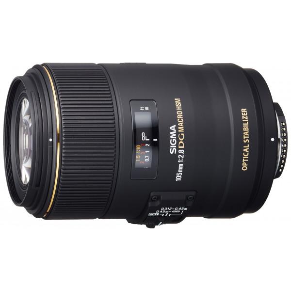 Sigma 105 mm F2,8 EX Makro DG OS HSM-Objektiv (62 mm Filtergewinde) für Nikon Objektivbajonett-35