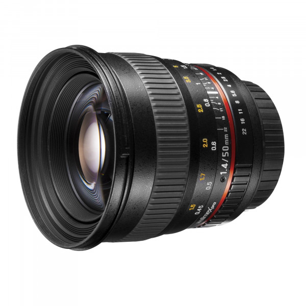 Walimex Pro 50mm f/1,4 CSC Porträt Objektiv für Fuji X inkl. Sonnenblende/Filterdurchmesser 77 mm schwarz-34