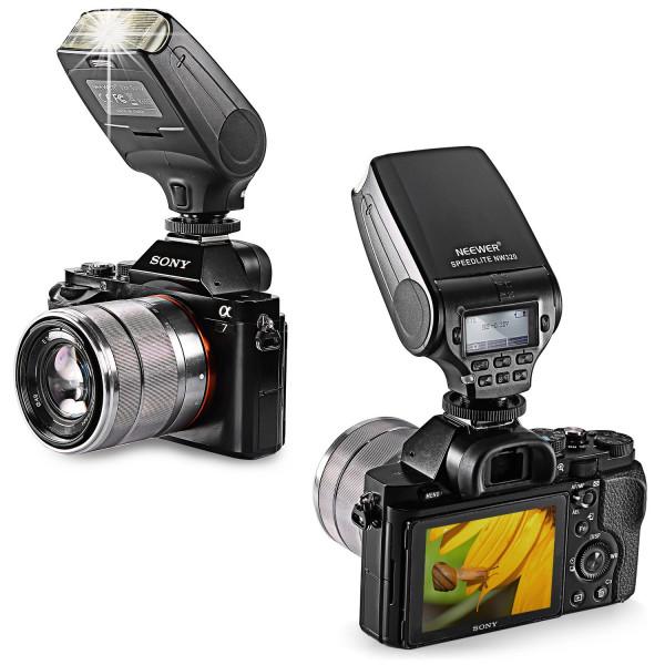 Neewer® MK320 TTL LCD Display Blitz Speedlite Blitzgerät für Sony A7 (A7 A7S A7R A7II) NEX6 RX1 RX1R RX10 RX100II HX50 A3000 A6000-38