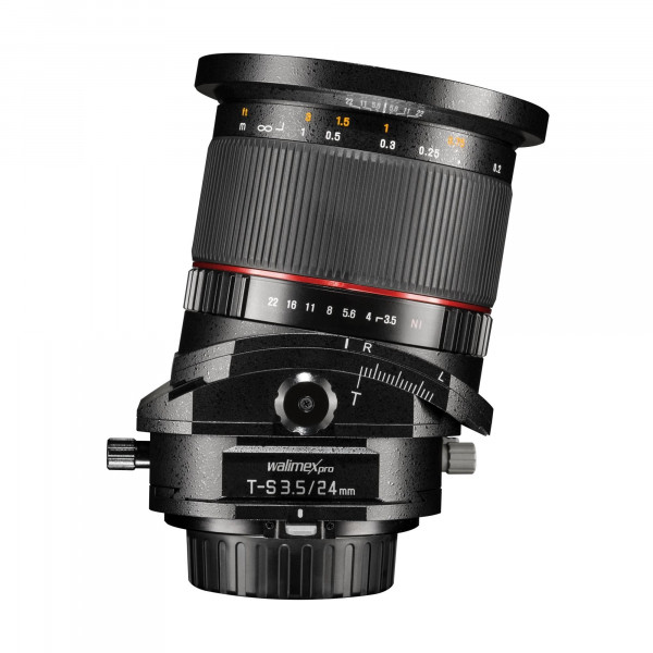 Walimex Pro 24 mm 1:3,5 CSC Tilt-Shift Objektiv (Filtergewinde 82 mm) für Sony E Mount Objektivbajonett schwarz-38