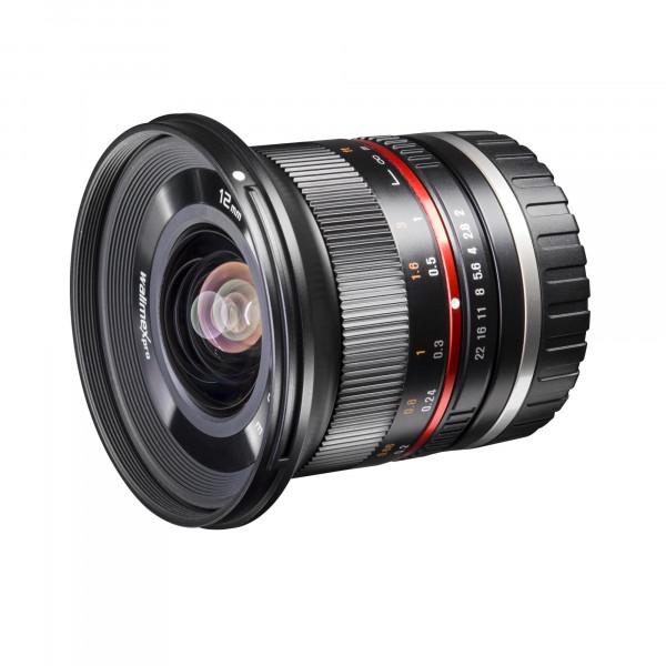 Walimex Pro 12 mm 1:2,0 CSC-Weitwinkelobjektiv für Samsung NX Objektivbajonett schwarz-39