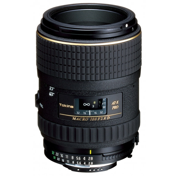 Tokina AT-X M100/2.8 Pro D Makro-Objektiv (55 mm Filtergewinde, Abbildungsmaßstab 1:1) für Canon Objektivbajonett-38