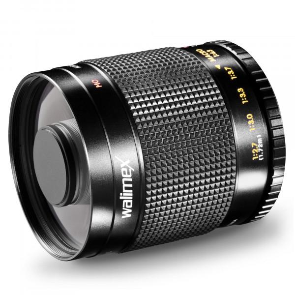 Walimex 500mm 1:8,0 DSLR-Spiegelobjektiv (Filtergewinde 30,5mm, inkl. Skylight und Graufilter) für C-Mount Bajonett schwarz-310