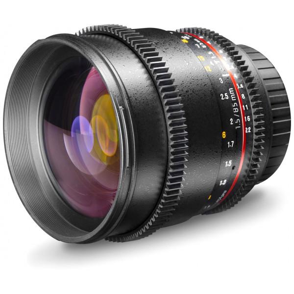 Walimex Pro 85mm 1:1,5 VCSC Video und Fotoobjektiv (Filtergewinde 72mm, Zahnkranz, stufenlose Blende und Fokus, IF) für Pentax Q Objektivbajonett schwarz-36