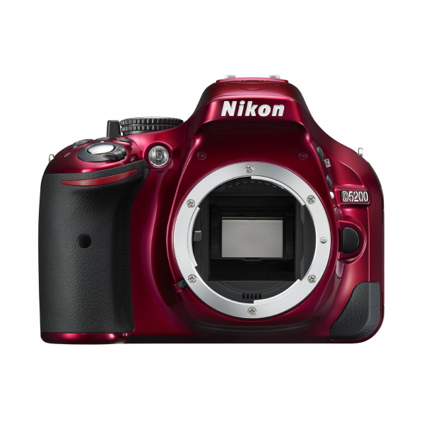 Nikon D5200 SLR-Digitalkamera (24,1 Megapixel, 7,6 cm (3 Zoll) TFT-Display, Full HD, HDMI) nur Gehäuse rot-36