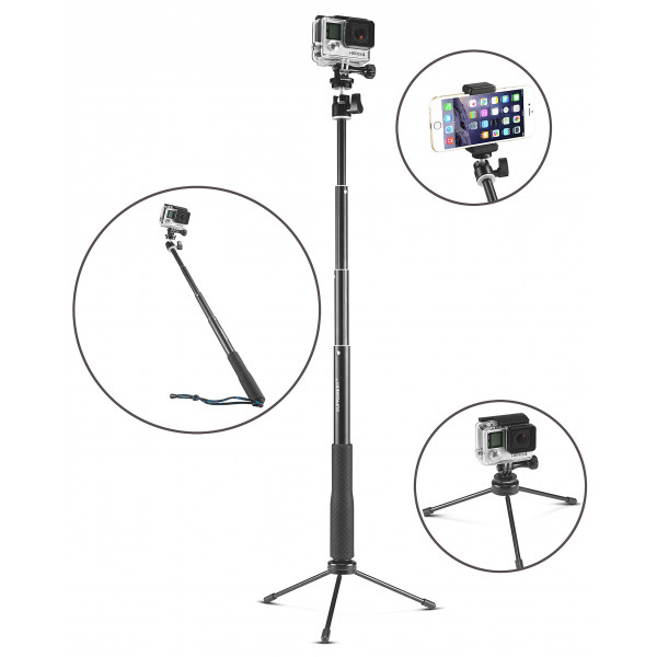 supremery suppole q3 erweiterbarer selfie stick pole. Black Bedroom Furniture Sets. Home Design Ideas
