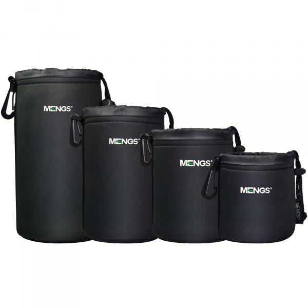 MENGS® High Grade schützenden Neopren Objektivtasche for 4 Größe Multi Pack (S, M, L and XL) Haken und Gürtelschlaufe-39
