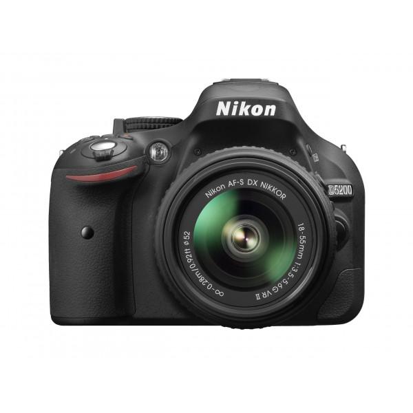 Nikon D5200 SLR-Digitalkamera (24,1 Megapixel, 7,6 cm (3 Zoll) TFT-Display, Full HD, HDMI) Kit inkl. AF-S DX 18-55 VR II Objektiv schwarz-310